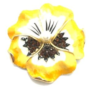 Delicate Pansy Brooch